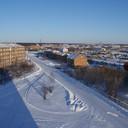 2010 год. первый микрорайон, коттеджи, вид на «новый» город, с крыши 1-7